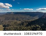 view beyond the three sisters... | Shutterstock . vector #1083196970
