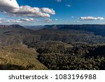 view beyond the three sisters... | Shutterstock . vector #1083196988