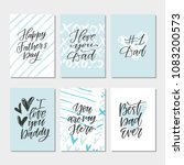 vector  template for father's... | Shutterstock .eps vector #1083200573