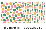 colorful summertime set.... | Shutterstock .eps vector #1083201356