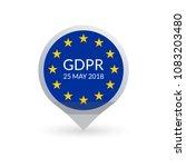 gdpr marker. general data... | Shutterstock . vector #1083203480