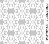 white floral ornament on gray... | Shutterstock .eps vector #1083213830