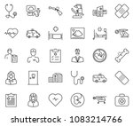 thin line icon set   heart... | Shutterstock .eps vector #1083214766
