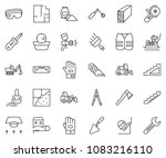 thin line icon set   cutter... | Shutterstock .eps vector #1083216110