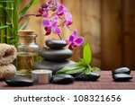 Zen Basalt Stones And Bamboo On ...