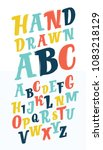 vector cartoon letters abc set... | Shutterstock .eps vector #1083218129