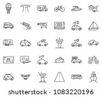 thin line icon set   home... | Shutterstock .eps vector #1083220196