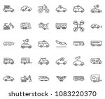 thin line icon set   home... | Shutterstock .eps vector #1083220370