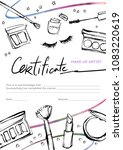 design a certificate for the... | Shutterstock .eps vector #1083220619