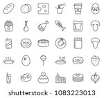thin line icon set   coffee...   Shutterstock .eps vector #1083223013