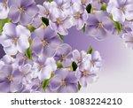 violet flowers background...   Shutterstock .eps vector #1083224210