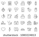 thin line icon set   mother day ... | Shutterstock .eps vector #1083224813