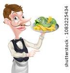an illustration of a cartoon... | Shutterstock .eps vector #1083225434