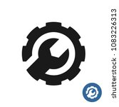 gear and wrench icon. service... | Shutterstock .eps vector #1083226313