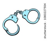 metal handcuffs for detaining... | Shutterstock .eps vector #1083227504