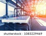 sandwich panel or metal work... | Shutterstock . vector #1083229469