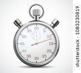 stopwatch on the white... | Shutterstock .eps vector #1083230819