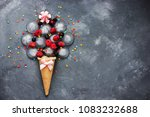 ice cream food art composition... | Shutterstock . vector #1083232688