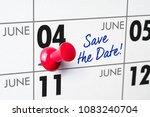 wall calendar with a red pin  ... | Shutterstock . vector #1083240704