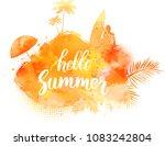 abstract painted splash shape... | Shutterstock . vector #1083242804