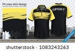 polo t shirt with zipper ... | Shutterstock .eps vector #1083243263