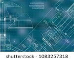 mechanical engineering drawings.... | Shutterstock .eps vector #1083257318