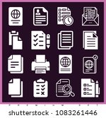 set of 16 document filled icons ... | Shutterstock .eps vector #1083261446