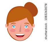 young woman head avatar... | Shutterstock .eps vector #1083263078