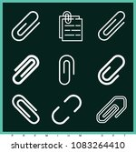 set of 9 clip outline icons... | Shutterstock .eps vector #1083264410