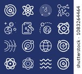 set of 16 science outline icons ... | Shutterstock .eps vector #1083264464