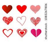 design elements for valentine's ... | Shutterstock .eps vector #1083267806