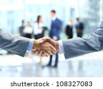business handshake and business ... | Shutterstock . vector #108327083