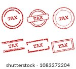 tax stamps on white | Shutterstock .eps vector #1083272204