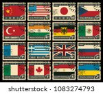 Vector Set Of Postage Stamps O...