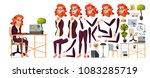 office worker vector. woman.... | Shutterstock .eps vector #1083285719