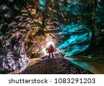 ice cave in vatnajokull ... | Shutterstock . vector #1083291203