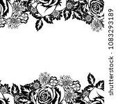 seamless monochrome pattern of... | Shutterstock .eps vector #1083293189