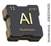 aluminium element symbol from... | Shutterstock . vector #1083293420