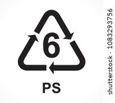 recycling symbols number 6 ps ... | Shutterstock .eps vector #1083293756