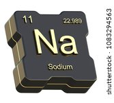 sodium element symbol from... | Shutterstock . vector #1083294563