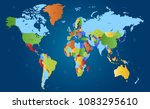 color world map vector | Shutterstock .eps vector #1083295610