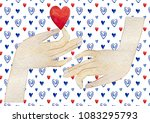 happy valentine's day. love... | Shutterstock . vector #1083295793