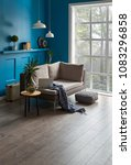 blue room living room interior... | Shutterstock . vector #1083296858