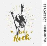 monochrome antique hipster... | Shutterstock .eps vector #1083297653