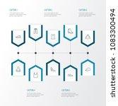 garment icons line style set... | Shutterstock .eps vector #1083300494