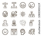 set of 16 people outline icons...   Shutterstock .eps vector #1083303119