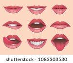 lips set vector illustration. | Shutterstock .eps vector #1083303530