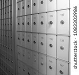 safety deposit boxes | Shutterstock . vector #1083303986