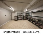 warehouse freezer  cold storage. | Shutterstock . vector #1083311696