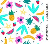 tropical seamless pattern with... | Shutterstock .eps vector #1083314366